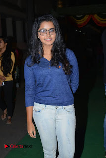 Actress Anupama Parameswaran Stills in Denim Jeans at Shatamanam Bhavathi Movie Preview Show  0002