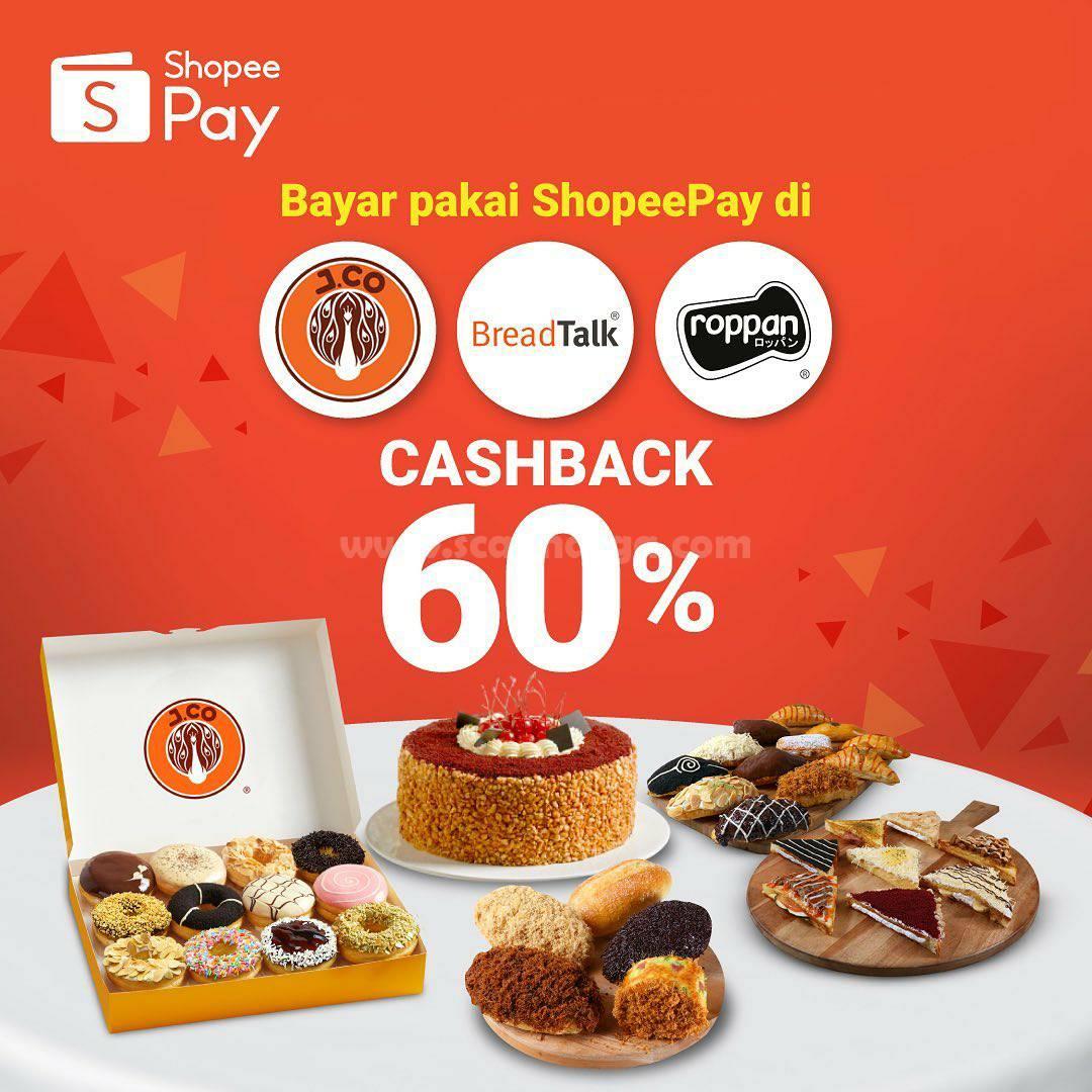 Breadtalk Promo Cashback 60% Bayar Pakai ShopeePay