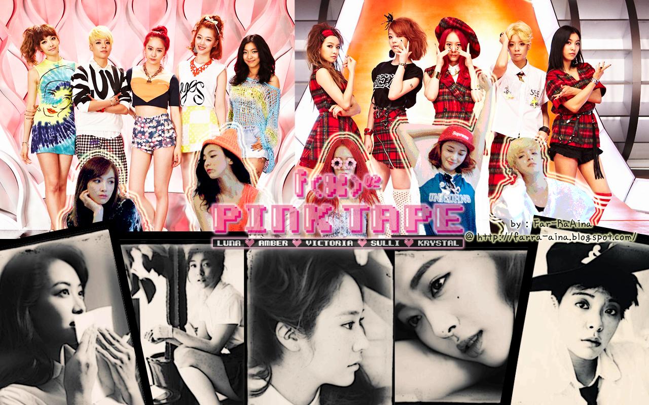 K Pop Lover F X Pink Tape Wallpaper