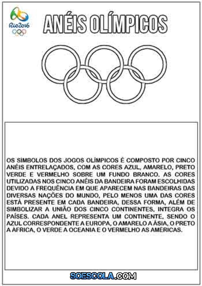 Jogos Olimpicos 2016 Textos Para Imprimir So Escola