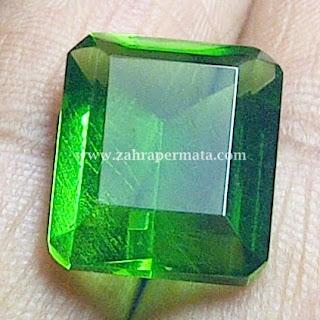 Batu Permata Green Tektite + Memo - ZP 348