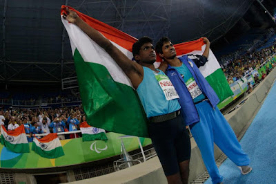 Mariyappan Thangavelu Wins Gold in T-42 High Jump Clearing 1.89m in Paralympic