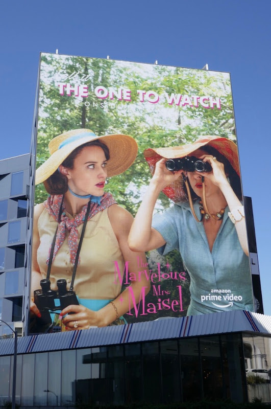 Mrs.Maisel season 2 one to watch Emmy FYC billboard