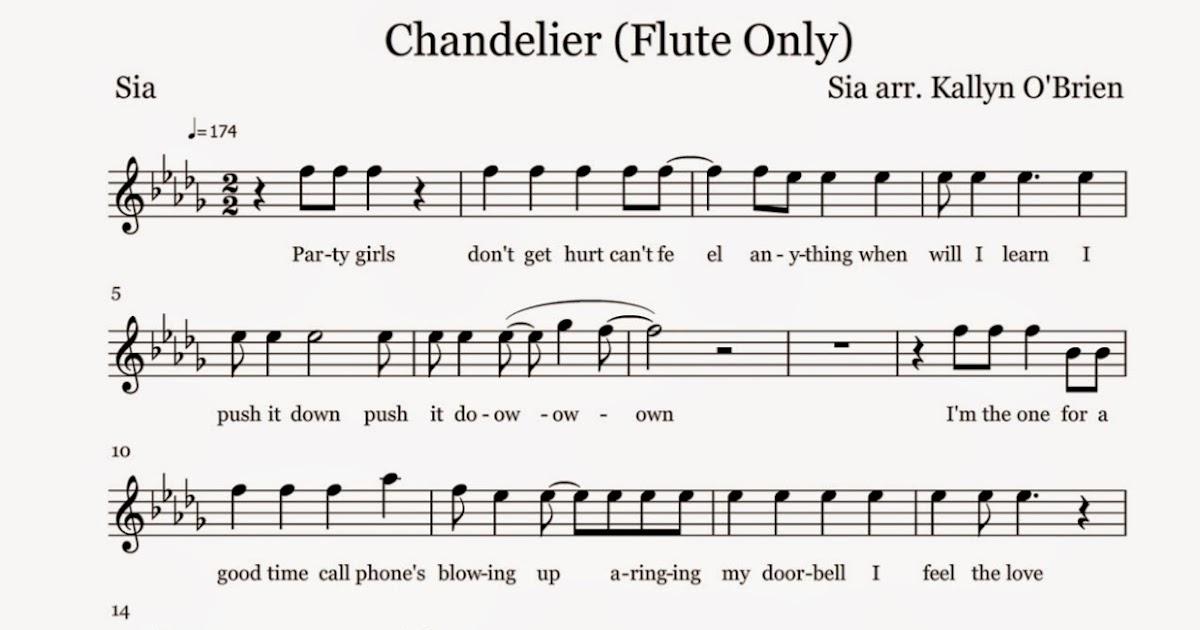 Piano skyscraper piano sheet music : Flute Sheet Music: Chandelier - Sheet Music
