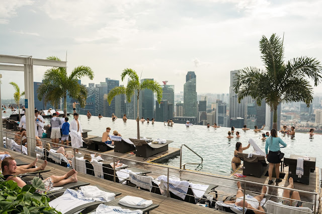 singapur, barvy, budovy, cestování, svět, singapore, Marina Bay Sands, bazén na hotelu