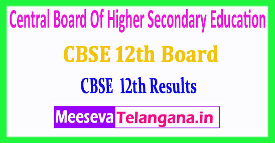 CBSE Central Board Of Higher Secondary Education 2018 CBSE 12th Results