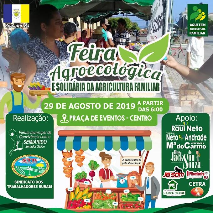 Feira Agroecológica acontecerá no dia 29 de Agosto. Venha participar!