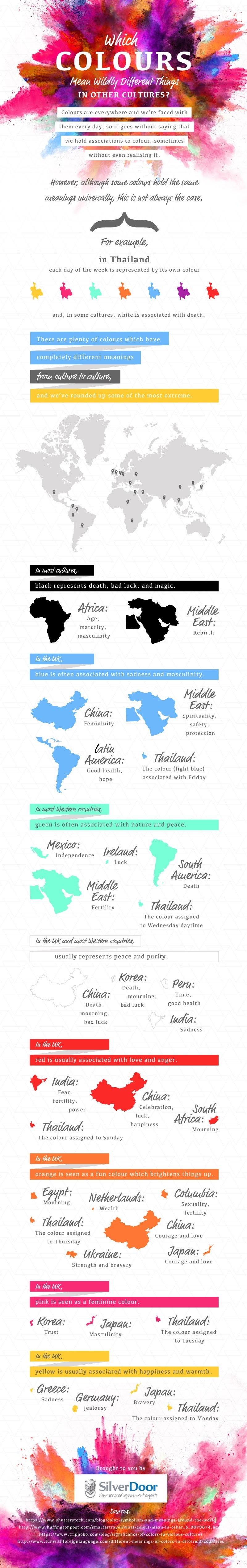 Which Colours Mean Wildly Different Things In Other Cultures? - #Infographic