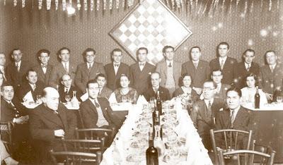 Cena de homenaje a Ricard Riu Roca en diciembre de 1932