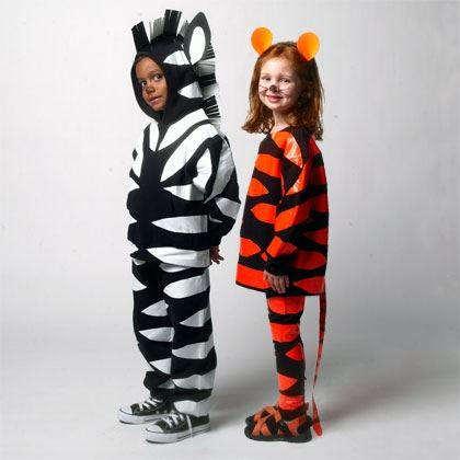 Tiger and Zebra Costumes