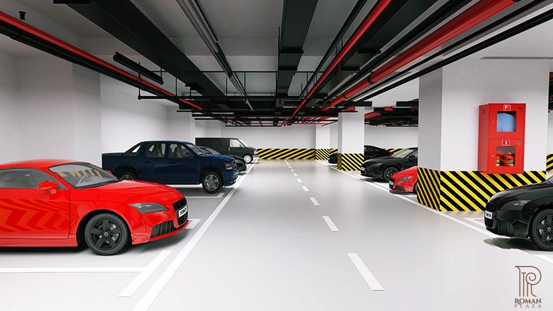 Hầm đỗ xe của Roman Plaza Hải Phát