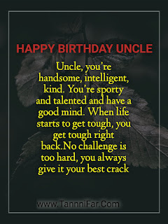 birthday wishes for uncle from niece