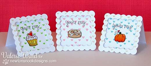 Mini notecards by Valerie Ward using Love a la Carte by Newton's Nook Designs