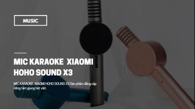 Micro không dây tích hợp bluetooth Xiaomi Hoho Sound x3 âm thanh nhân ba không ngại tầm xa