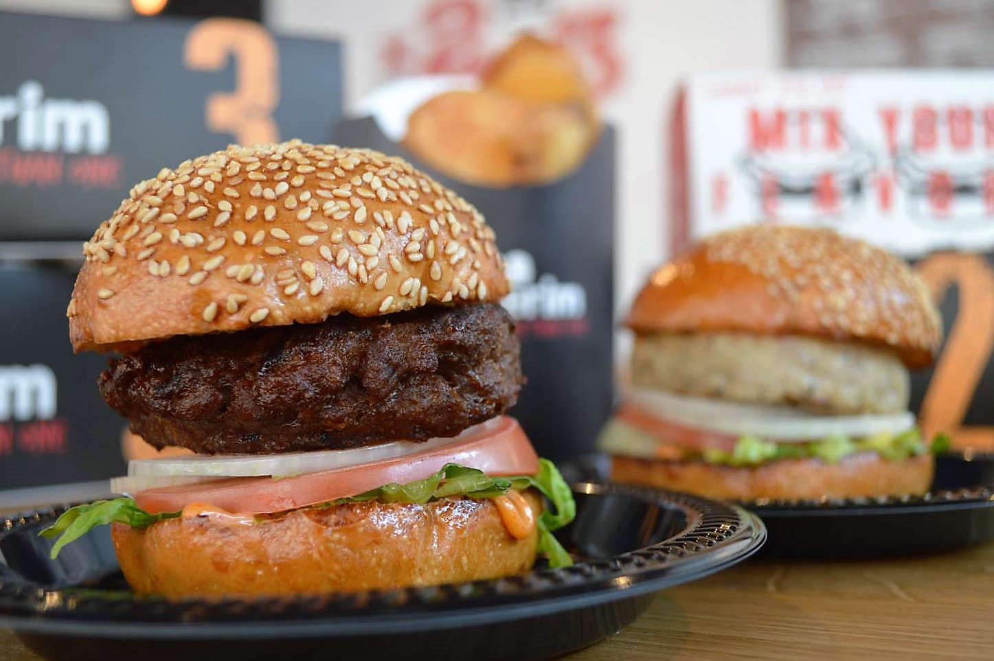 GOURMET FAST FOOD BURGERS THAT WILL HAVE YOU ALWAYS NEEDING MORE THAN ONE @ BURGERIM - MELROSE (LA)