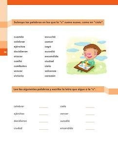 """Apoyo Primaria Español 2do grado Bloque 2 lección 6 ¿Cómo suena la """"c""""?"""