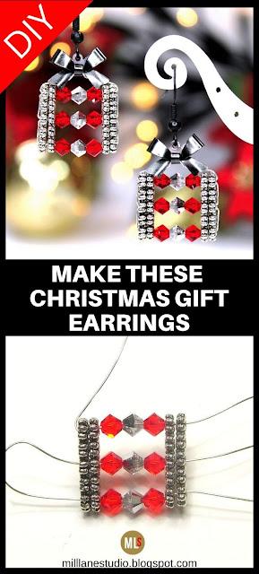 Christmas Gift Box earrings inspiration sheet