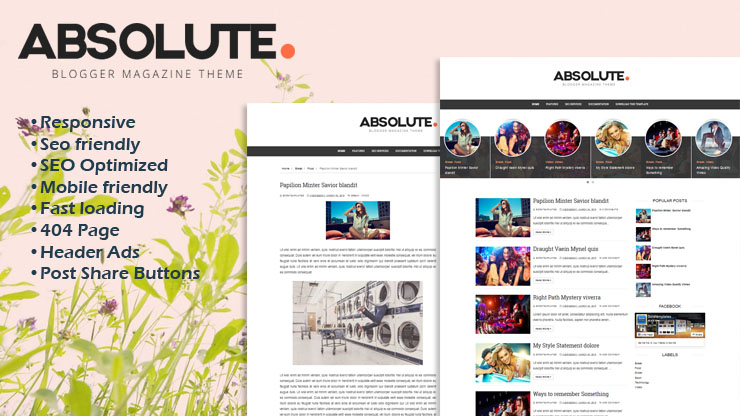 Absolute Responsive Blogger Template