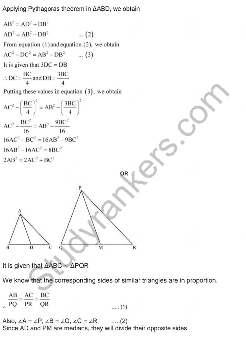 Previous Year Question Paper for CBSE Class 10 Maths 2019 Part 14