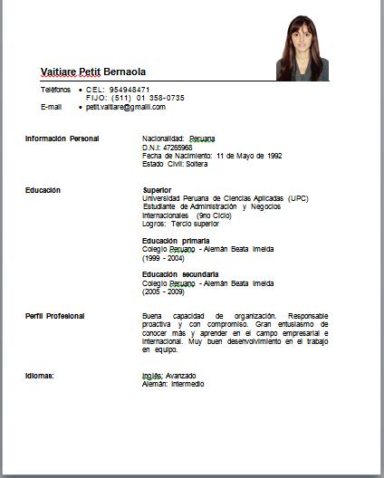 Blog Profesional Vaitiare Petit Curriculum Vitae Funcional Por