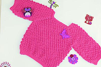 4 -Crochet Imagen Jarsey de nina a crochet muy rapido y sencillo por Majovel Crochet
