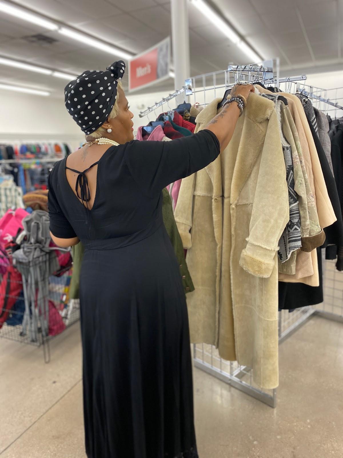 Thrift Snooping Cream Camel Coat.
