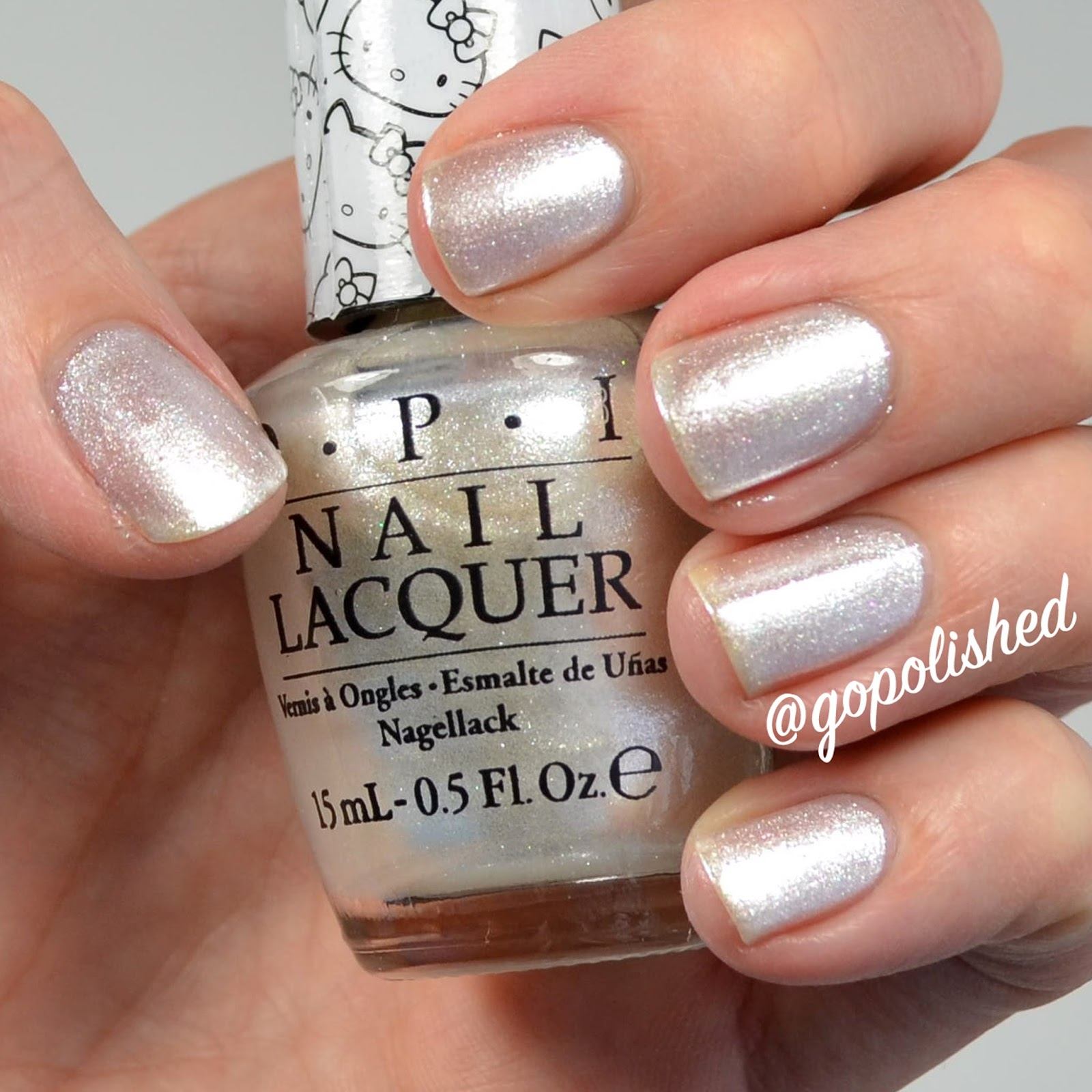 Go Polished Opi Hello Kitty Collection Review And Live