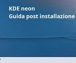 KDE neon: Guida post installazione
