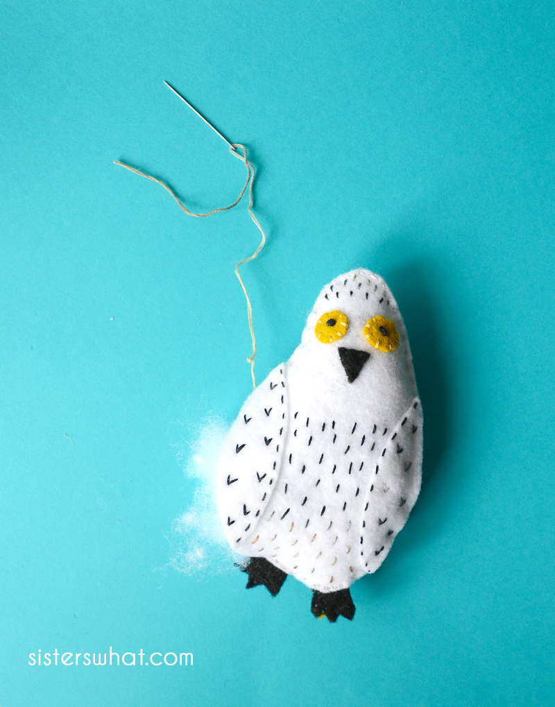 sewing a owl pattern