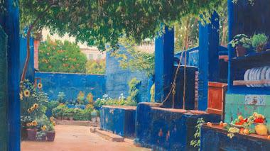 Patios, espacios de luz y color en la pintura