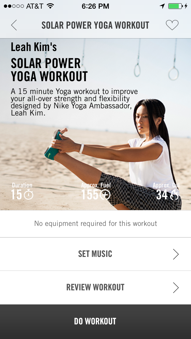 Nike Training Club Solar Power Yoga