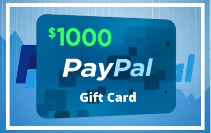 Sorteio de $1.000 em dinheiro no PayPal