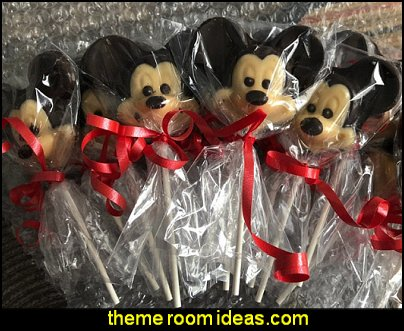Mickey Mouse Chocolate Lollipop Favors  mickey mouse party ideas Minnie Mouse - Mickey Mouse party decoratons Minnie Mouse - Mickey Mouse Party Supplies Minnie Mouse - Mickey Mouse birthday themed party decorations Minnie Mouse - Party Decorations Mickey Mouse Theme - Disney party - Mickey Mouse Costumes  - Mickey Minnie Birthday Banner