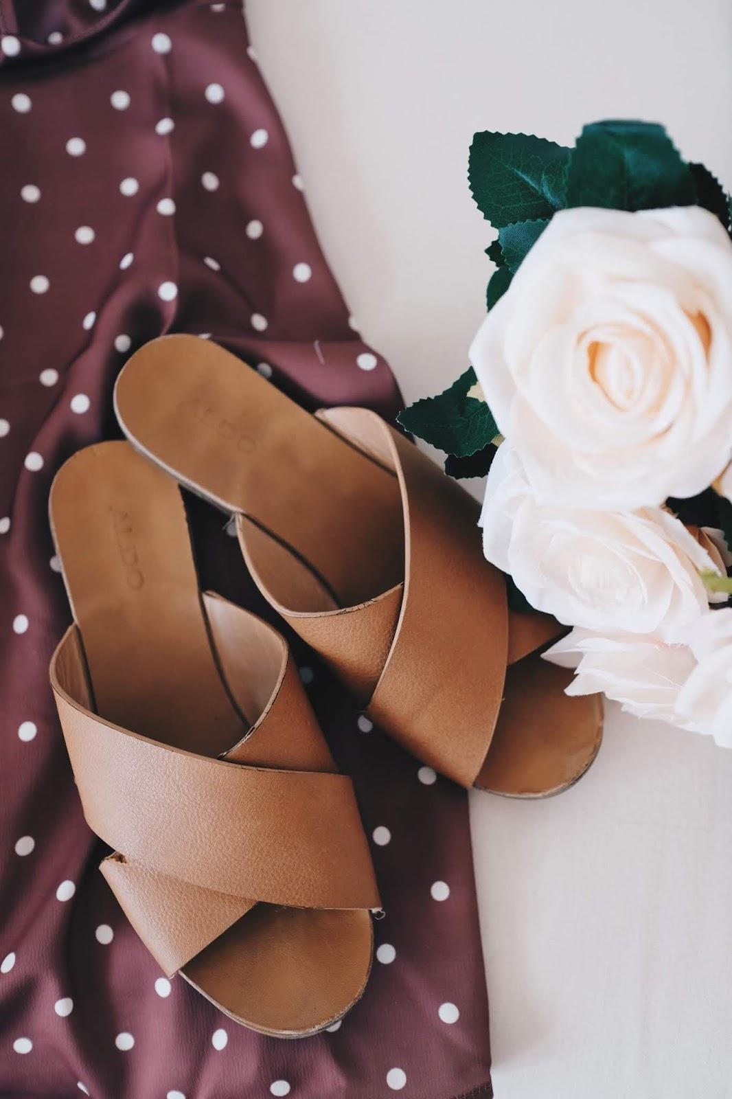 simple brown sandal