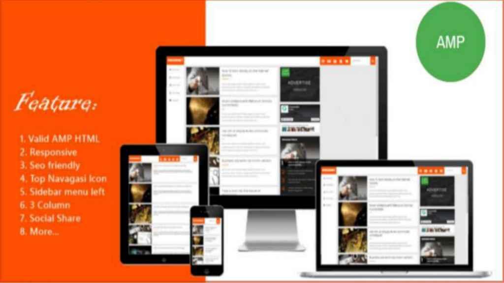 AMP-Blogger-Template