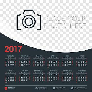 2017カレンダー無料テンプレート114
