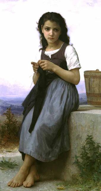 Адольф Вильям Бугро - Вязальщица (1884)