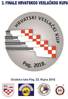 Hrvatski veslački savez: 3. FINALE HRVATSKOG VESLAČKOG KUPA I OSMERCI NA PAGU