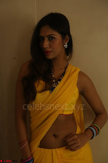 Nishigandha in Yellow backless Strapless Choli and Half Saree Spicy Pics 102.JPG