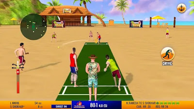 Friends Beach Cricket Gameplay