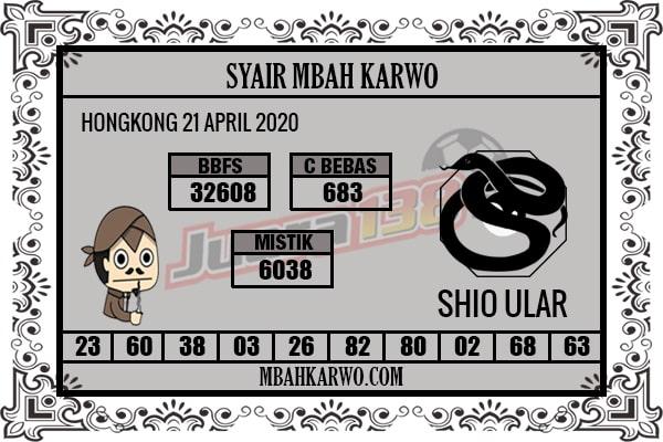 Prediksi HK 21 April 2020 - Mbah Karwo HK