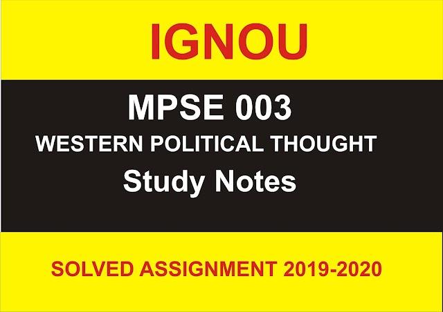 MPSE 003 Study Notes