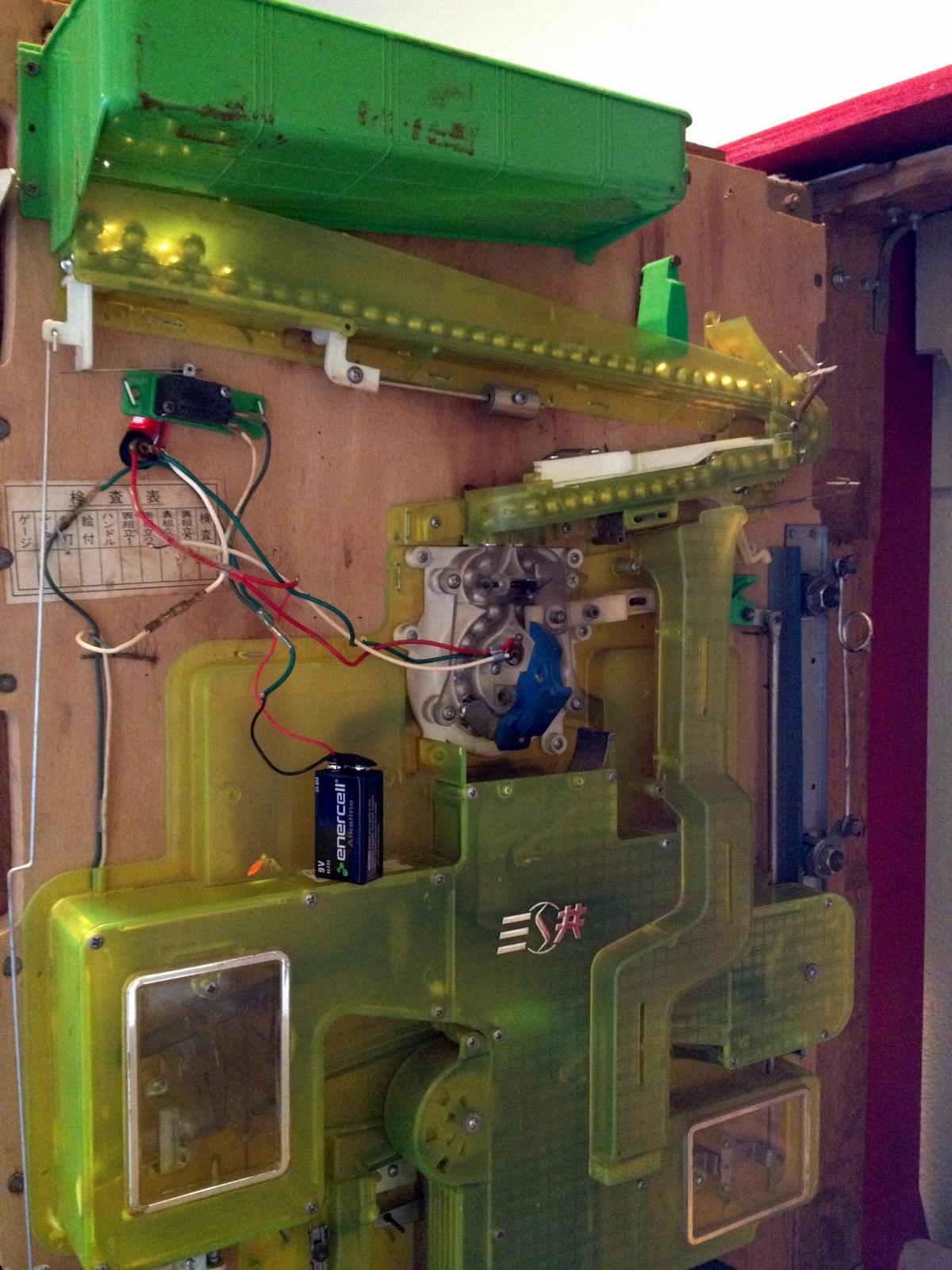hight resolution of my sankyo pachinko machine gets her lights fixed