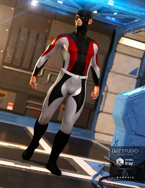 Super Bodysuit Superhero Textures