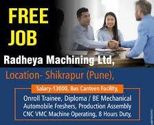 Radheya Machining Ltd Recruitment Diploma/BE /B.Tech Candidates For Production Department