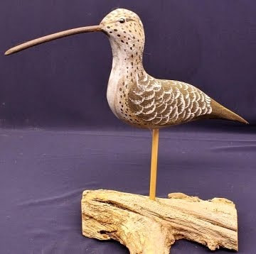 carved wood shore birds ebay