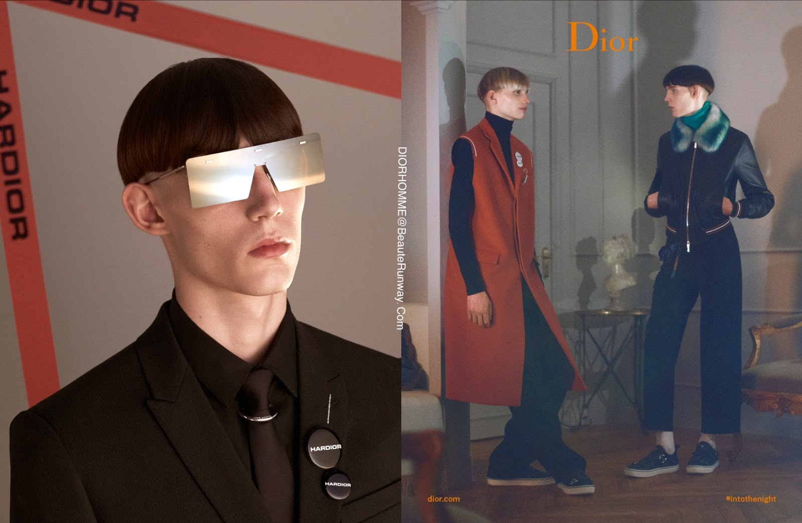 041fb8d9bb HarDior sunglasses delicate silver-tone metal structure with openwork  temples matt black lacquered endtips with Dior Homme cut creates lightness  while the ...
