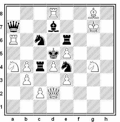 Problema de mate en 2 compuesto por Osmo Kaila (3º Premio, Suomen Tehtäväniekat 1959)