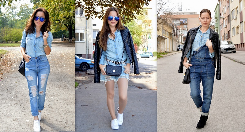 3 ways to style denim on denim