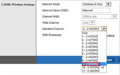 Ubah saluran sinyal Wifi dengan inssider